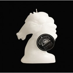 Bougie sculptée cheval blanc