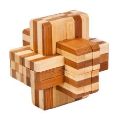 Puzzle 3D en bambou « Croix »