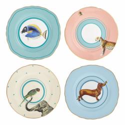 Set de 4 assiettes animaux...