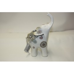 Éléphant Porcelaine et Métal