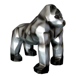 Sculpture Gorille gris H.60 cm